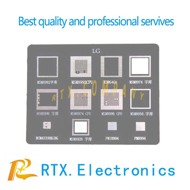 1-20pcs For LG G4/G3 CPU+RAM MSM8992 MSM8974 MSM8996 MSM8956 MSM8928 BCM4339HKUBG PMI8994 PM8994 K3RG4G4 BGA Reballing Stencils