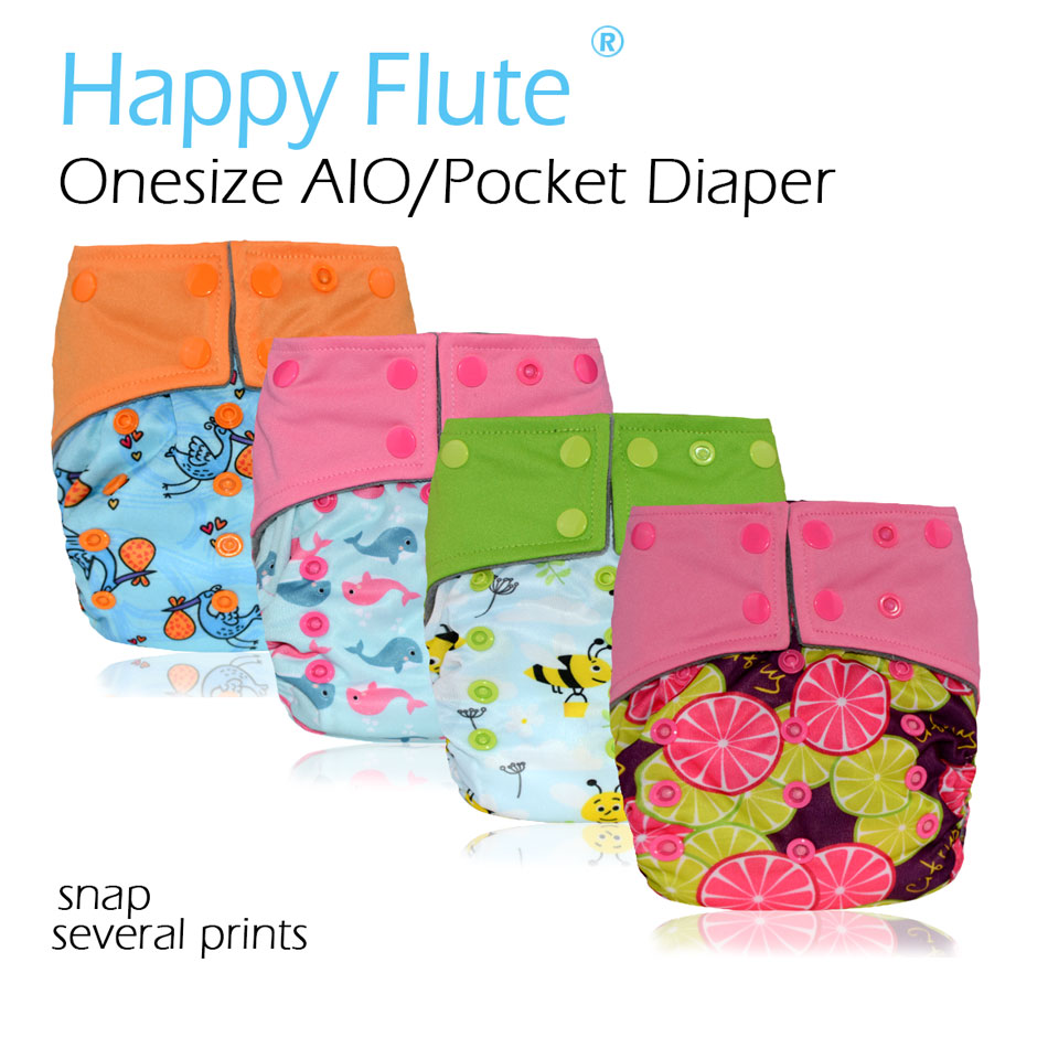 Onesize AIO&Pocket Cloth Diaper for 3-15 baby,S M L adjustable,double leaking guards with charcoal insert