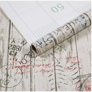 Image 4 - 木目から防水壁紙の接着剤壁スティック寝室の壁紙ワードローブ家具リフォームステッカー