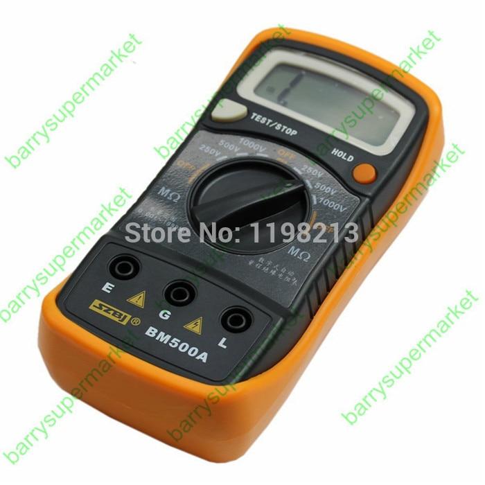 BM500A Digital Insulation Resistance 0~2000M Tester 1000V 1999M Digital Insulation Resistance Tester Meter Megohmmeter Megger  цены