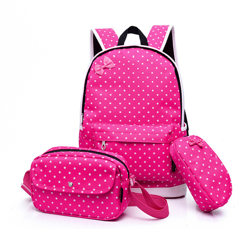 3 PCS/Set Printing School Bags For Teenagers Girls Backpacks Children Cute Rucksack Schoolbag Lady Bookbags Female mochila здоровое и раздельное питание эксмо 978 5 699 46413 5