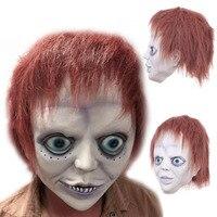 Halloween Máscara de Látex Assustador Bad Boy Lábio Roxo Adulto Máscara Do Traje Do Vestido Extravagante Do Partido Máscara de Carnaval Trajes Papel Que Joga o Teatro