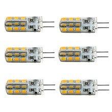 цена на HRSOD 6pcs G4 3W 24x2835SMD 180LM 3000K/6000K Warm White/Cool White Light LED Corn Bulb(DC12V)