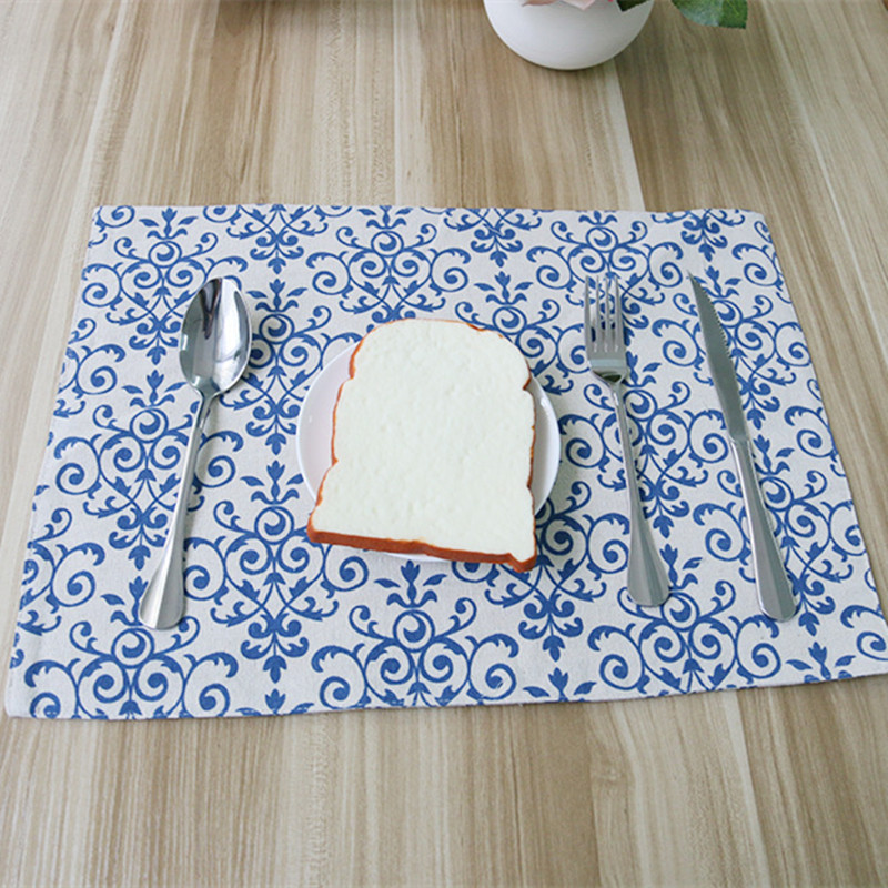 Free Shipping Chinese Style Placemat Dining Table Coaster Cloth Insulation Coffe Tea Cup Pad Kitchen Mantel Individual For Table