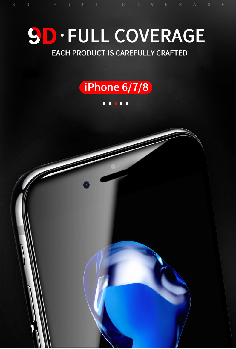 MEIZE 9D Protective Glass for iPhone 7 Screen Protector iPhone 8 Xr Xs Xs Max Tempered Glass on iPhone X 6 6s 7 8 Plus Xs Glass 2