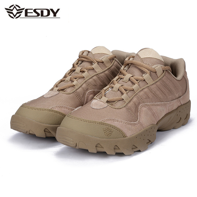 Outdoor Hiking Shoes Men Spring Breathable Lace Up Climbing Trekking Sport Sneakers Tactical Military Walking Camping Shoe Mens