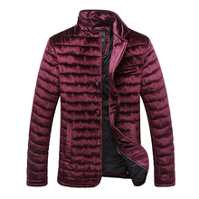 2019 High Quality Winter Jacket Men Fashion Cotton Padded Puffer Coat Autumn For