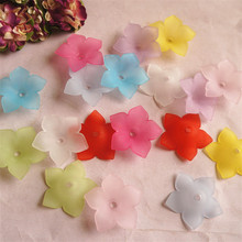 MEIDEHENG Multi 5 Petal Flowers Shape Acrylic Beads Translucent Dull Polish Fit Jewelry Handmade DIY Craft Accessories