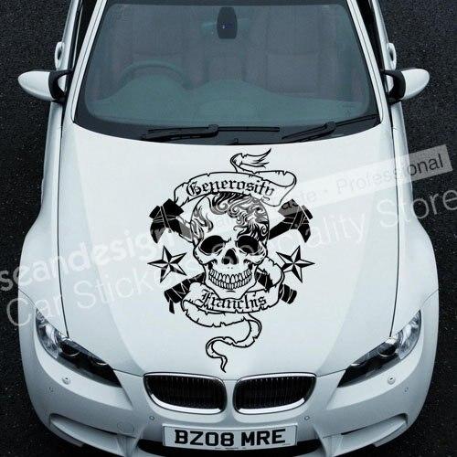 Cool! Totem crâne G TT016 Auto voiture autocollant autocollant PVC (couleur noir, blanc, rouge, gris)