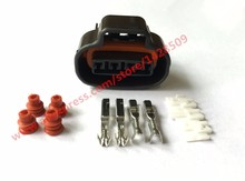 5 Sets 2JZ-GE Distributor Crank 4 Pin Female Wire Connector TPS Boost Sensor Oval Ignition Coil Connector Sumitomo For Toyota