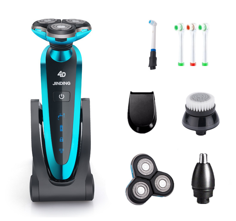 Waterproof 3 Blades Electric Shaver for Men with Folding Charging Base Rechargeable Accessories philips electric shaver s330 rechargeable and waterproof design for men s flexible veneer system with retail package