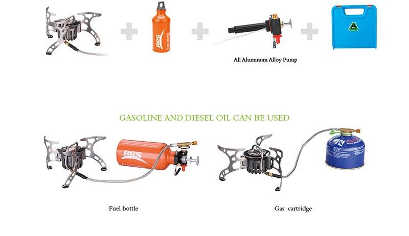 gás multi-uso portátil mochila fogão com estojo