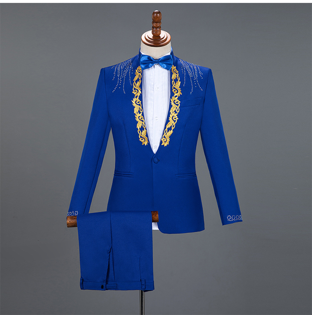 Formal Men's Suits, With Rhinestones