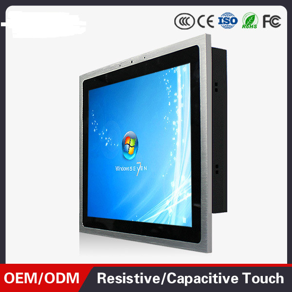 1000 Cd/m2 Brightness 12.1 Inch J1800  Fanless Touch Screen All In One Panel Pc Wide Temperature Industrial Panel PC