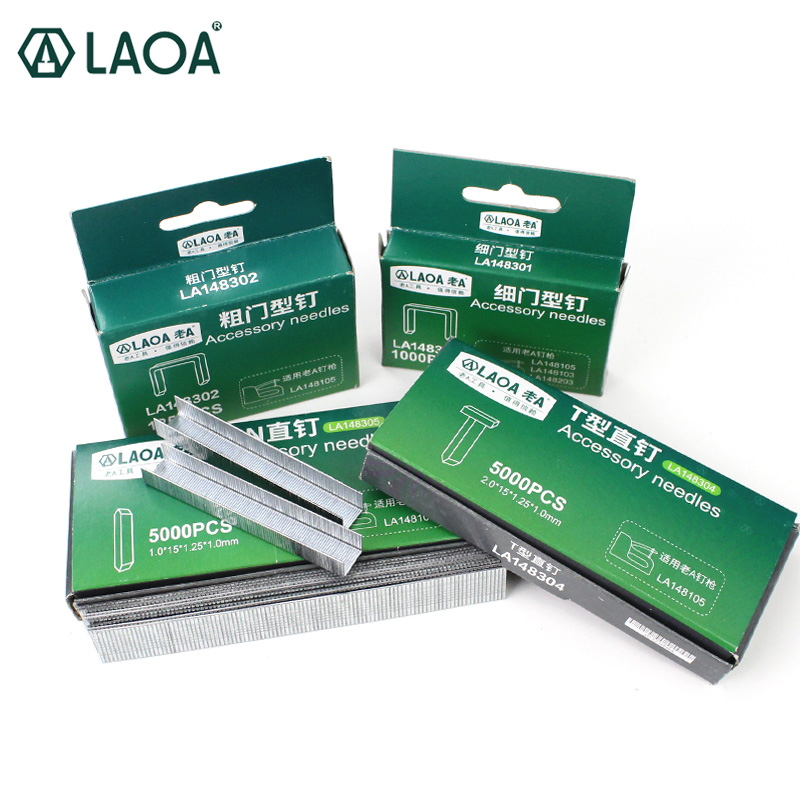 LAOA Nail Gun Accessory Needles For Nail Gun Thin Door Thick Door T Shape Straight Pin Straight Nail