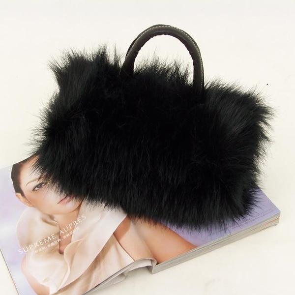 Девушки Леди Мода PU кожа и искусственная меховая сумка Сумка Лучшие продажи-WT