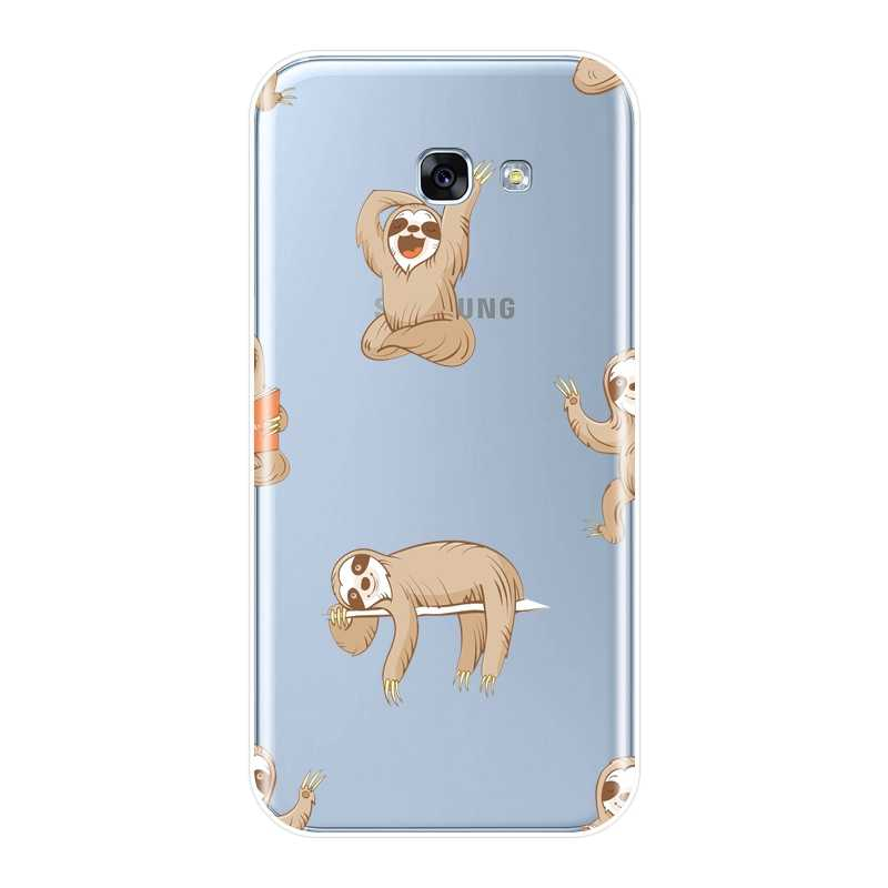 Чехол-накладка для samsung Galaxy A6 A7 A8 2018 A3 A5 2016 2017 мягкий силиконовый Kawaii Ленивец чехол для телефона для samsung A6 A8 плюс 2018