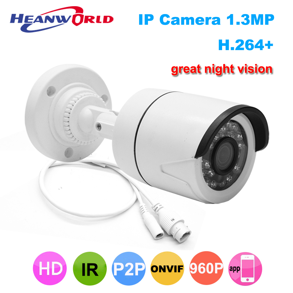 Mini IP Camera 1.3MP 960P Outdoor Camera IP ONVIF P2P Bullet Surveillance Camera Waterproof CCTV Camera Security Cam IR vision jienuo ip camera 960p outdoor surveillance infrared cctv security system webcam waterproof video cam home p2p onvif 1280 960