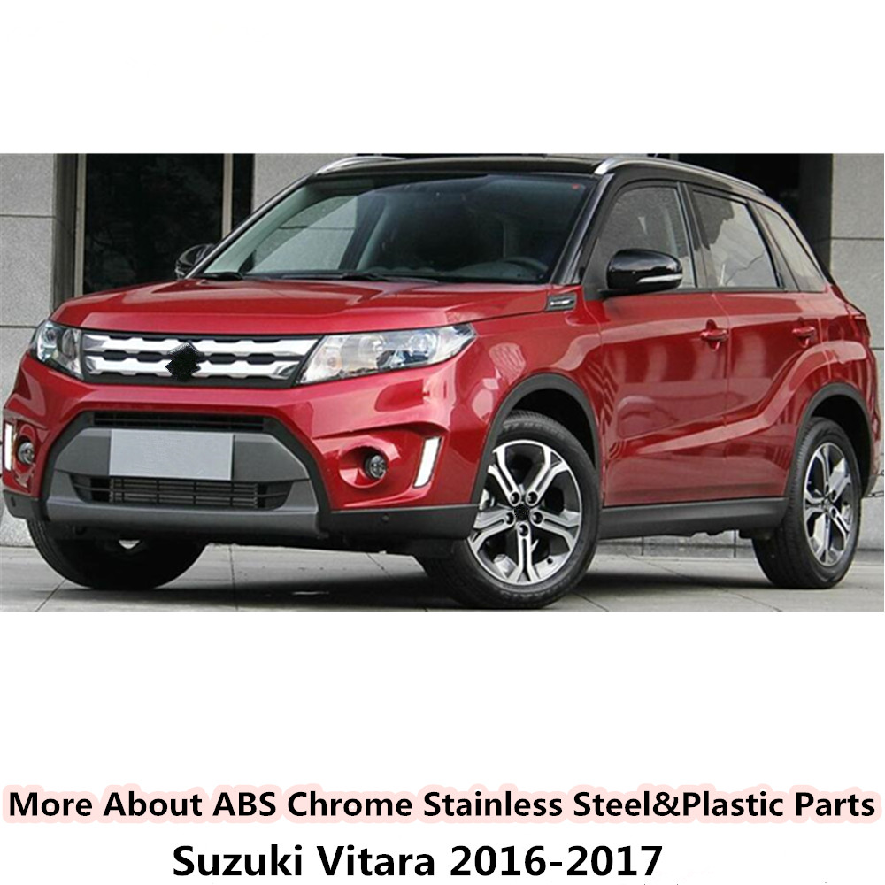Professional Sale For Suzuki Vitara 2016-2018 Car Stick Abs Chrome Car Frame A Column Audio Speak Sound Cover Ring Circle Lamp Trim 2pcs 100% Guarantee Chromium Styling Exterior Parts