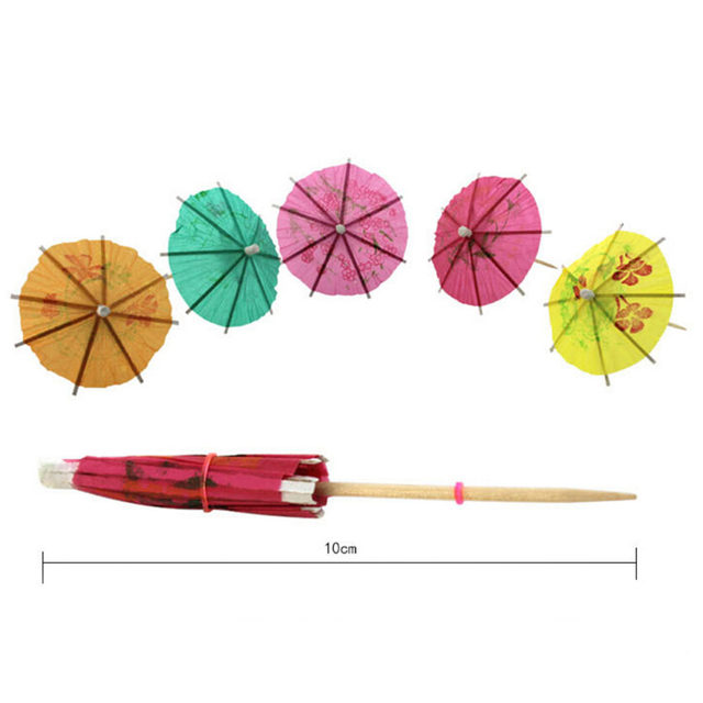 Paper Drink Cocktail Parasols Umbrellas Luau Sticks POP Party Wedding Umbrella Decoration 144Pcs Box