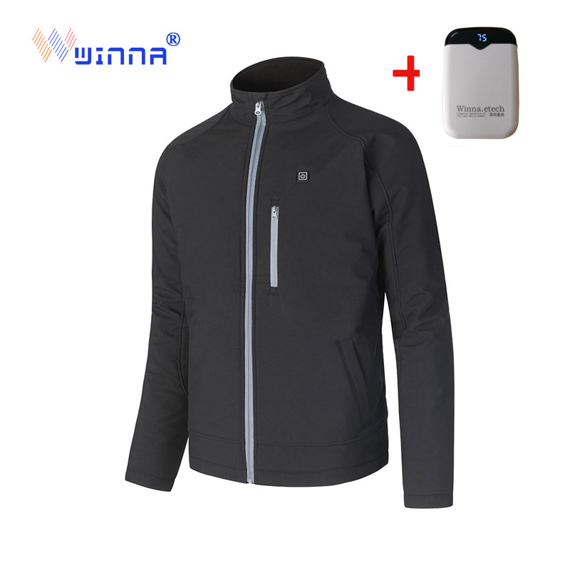 Men Women Outdoor USB Infrared Heating Jacket Winter Warm Electric Thermal Clothing Coat For Sports Hiking