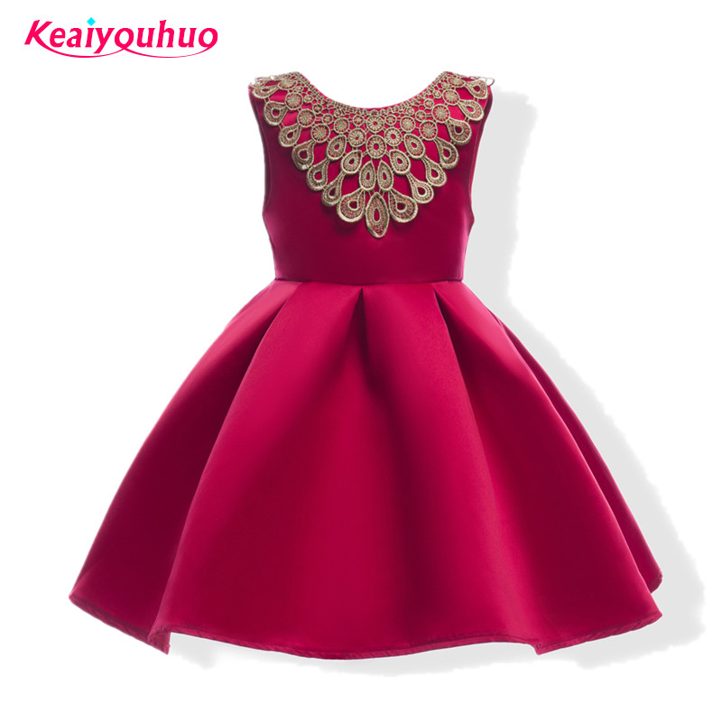 New Kids Clothing Teenagers Girl Party Dress Girls Princess Costume Wedding Dresses For Children 2017 Summer Birthday dress 2016 new cheap cute flower girls dress for birthday and festival party princess costume kids children dresses baby girl clothing
