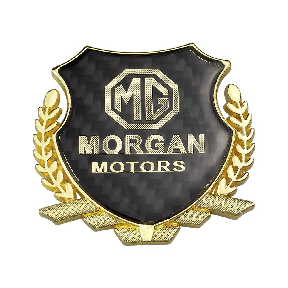 Auto Styling Carbon Fiber Sticker For Morgan Motors Logo For Tf Zr