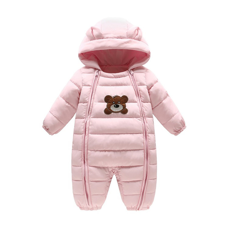 0f5be1ed8eb1 Warm baby girl winter coat hooded Rompers lovely boys winter ...