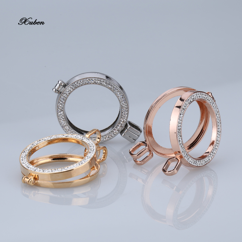 1pc/set Newset Arrival Alloy Crystal Frame Coin Necklace Pendant My 35mm Coin Holder No Glass