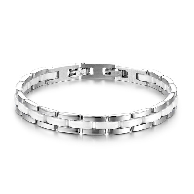 9913c8bc8f BONISKISS Women's Bracelets Ceramic Health & Fashion Bangle & Bracelet For  lady Stainless Steel Female Bracelet Jewery Bijoux