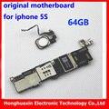 Para el iphone 5s original mainboard motherboard con touch id desbloqueo de fábrica con la huella digital de 64 gb placa lógica instalado ios sistema