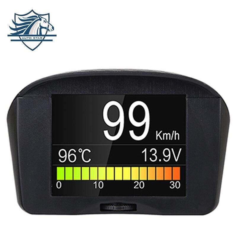 Original AUTOOL X50 2.4inch Car OBD Smart Digital Meter & Alarm Fault Code Water temperature gauge voltage speed meter display