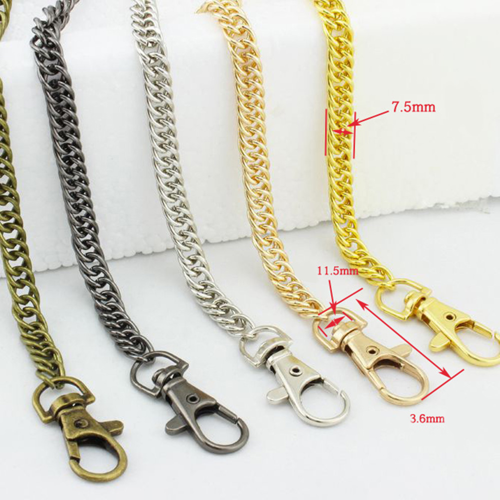 Metal Bag Chain For Shoulder Bags Handbag Buckle Handle DIY Belt For Bag Strap Accessories Hardware Double Woven Iron Chain