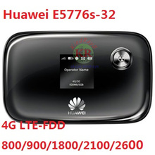 Free shipping old and Used Unlocked Huawei E5776S-32  cheap 150Mbps 4G LTE MiFi Mobile WiFi Hotspot wireless router