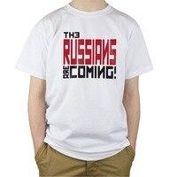 Print T Shirts T ShirtO Neck Short Sleeve Short Mens NEW The Russians Are Coming Men