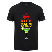 2018 Keep Calm and have a beer Cool Print Mens T-shirt Summer Short Sleeve T Shirt Hipster Men Tops Hip Hop Funny Tee Shirts(China)
