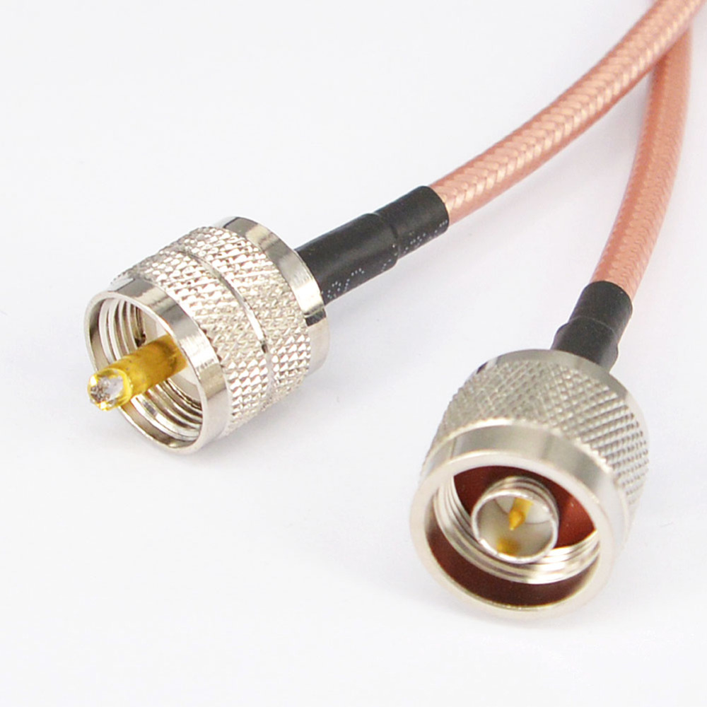 WIFI Antenna Cable N type Male Plug to UHF Male PL259 Connector Low Loss RG142 15cm,50cm,100cm,200cm rf coaxial cable uhf male to male connector uhf pl259 male to uhf male pl259 rg58 pigtail cable 50cm