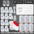 KR-G18 IOS Android APP Control Inalámbrico Conmercial Residencial Sistema de Alerta Chime Sensor de alarma GSM casa de seguridad del sistema