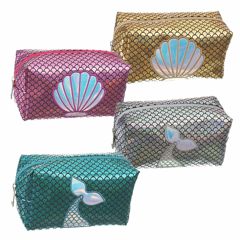 2019 Brand New Style Mermaid Women Ladies Makeup Bag Cosmetic Bags Travel Toiletry Wash Case Handbag
