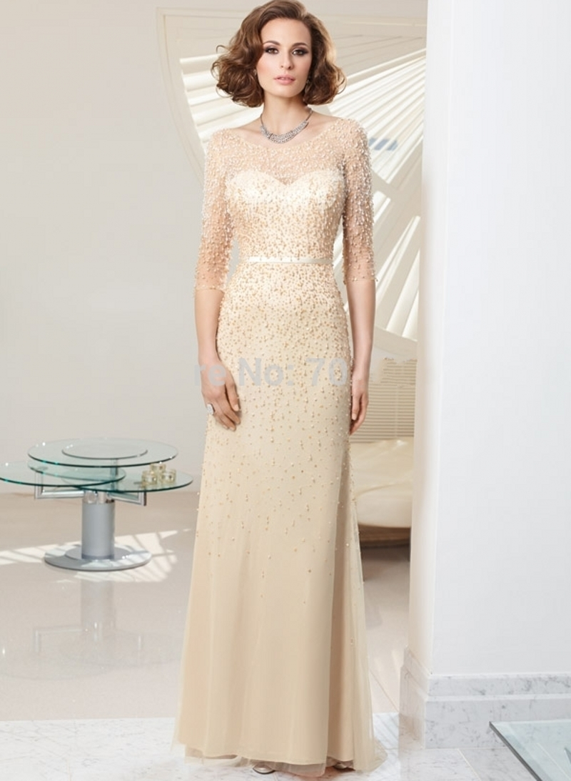mother of the bride dresses 2016 woman beaded bride groom mother dresses long vestido mae da