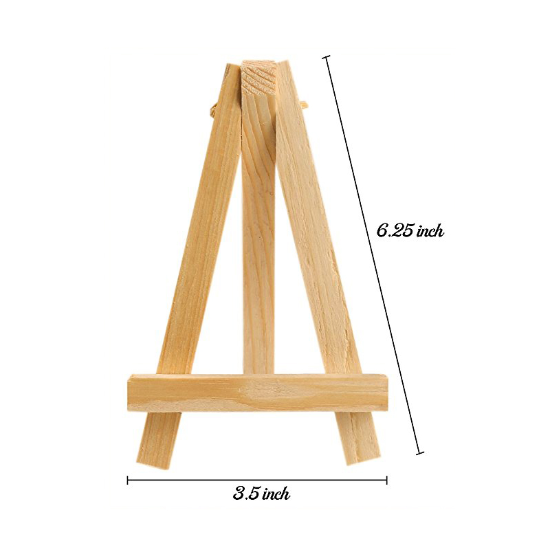 MEEDEN 6 25 Inch Wood Easel for Weddings Dispaly Card Holder Stand and School Students Artist Painting Supplies 24 Pack in Art Sets from Office School Supplies