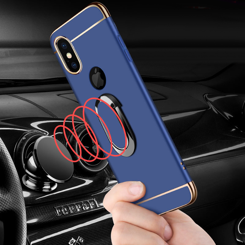 HTB1aObtOFzqK1RjSZFoq6zfcXXaM EPENA Ultra Thin For iphone 11 pro Xs Max XR Plating Hard Pc Cover 3 In 1 Case For iphone x 7 8 6S 6 Plus Case phone Ring Lanyard