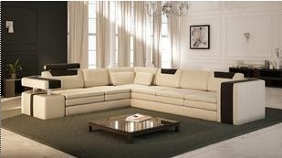 Modern Furniture Sofa Set Leather L Shape Sectional Home Furniture