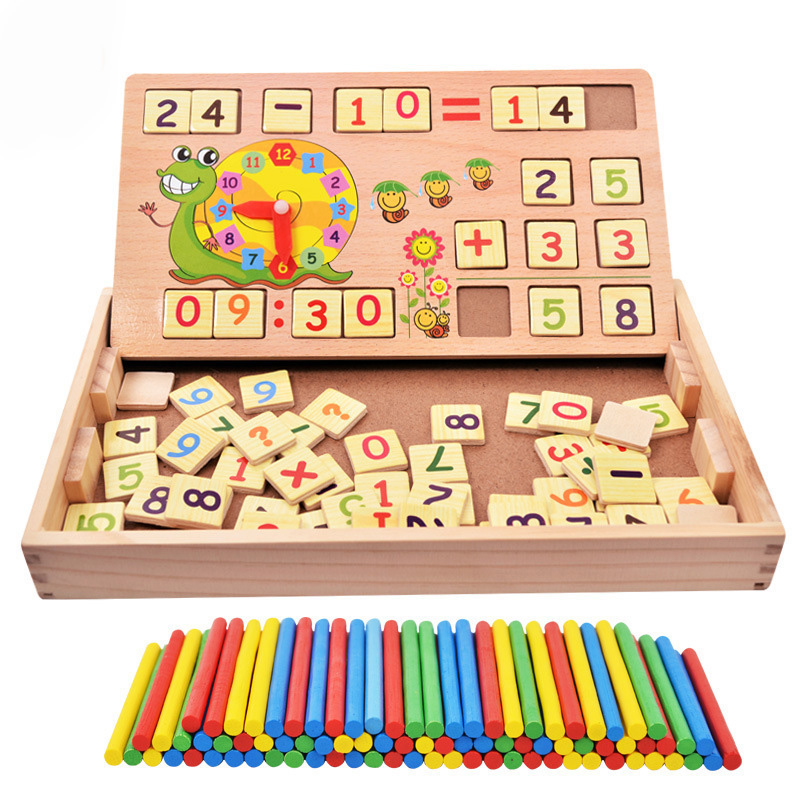 2017 Wooden Jenga Game Educational Toys Children Digital Operation Mathematics Learning Puzzle Brain Training Digital Toys MZ27 hot sale 1000g dynamic amazing diy educational toys no mess indoor magic play sand children toys mars space sand