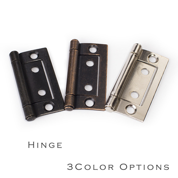 Antique copper black nickel color options iron Hinge 2 Classical Furniture Cabinet Door 135 degree no-mortise Hinge with screws image