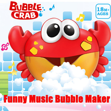 ZhenDuo Toys Baby Bath  Bubble Crabs Funny Music Maker Pool Swimming tub Soap Machine room