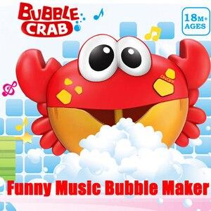 ZhenDuo Toys Baby Bath  Bubble Crabs Funny  Music  Maker Pool Swimming tub Soap Machine room