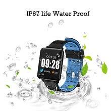 Inteligentne nadgarstek Monitor aktywności fizycznej zegarek wodoodporny z uśpienia monitora inteligentna bransoletka Sport krokomierz Fitness opaski na ramię Hot