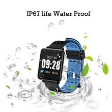 חכם צמיד כושר פעילות Tracker שעון עמיד למים עם שינה צג חכם צמיד ספורט מד צעדים כושר סרטי זרוע חמה
