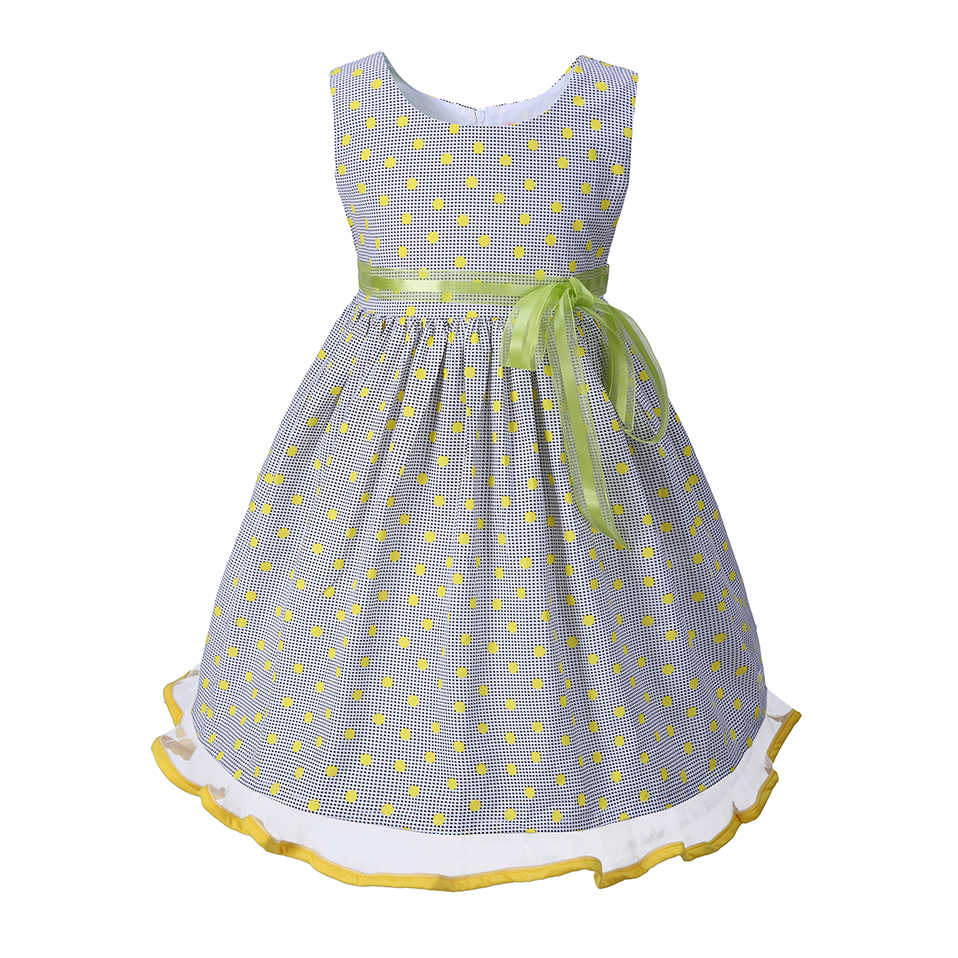 Pettigirl Summer Green Kid Princess Costumes For Girls Dots Sleeveless Baby  Girl Party Dress Casual Kid e2efe57f27cc